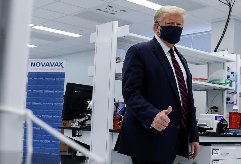 U.S. President Trump visits Fujifilm Diosynth Biotechnologies' Innovation Center in Morrrisville, North Carolina