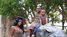 Single mom, 24, celebrates graduation with her 2 children: 'You don't have to be defined by your struggle'