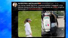 Exhiben en campo de golf a Ana Guevara y le llueven críticas
