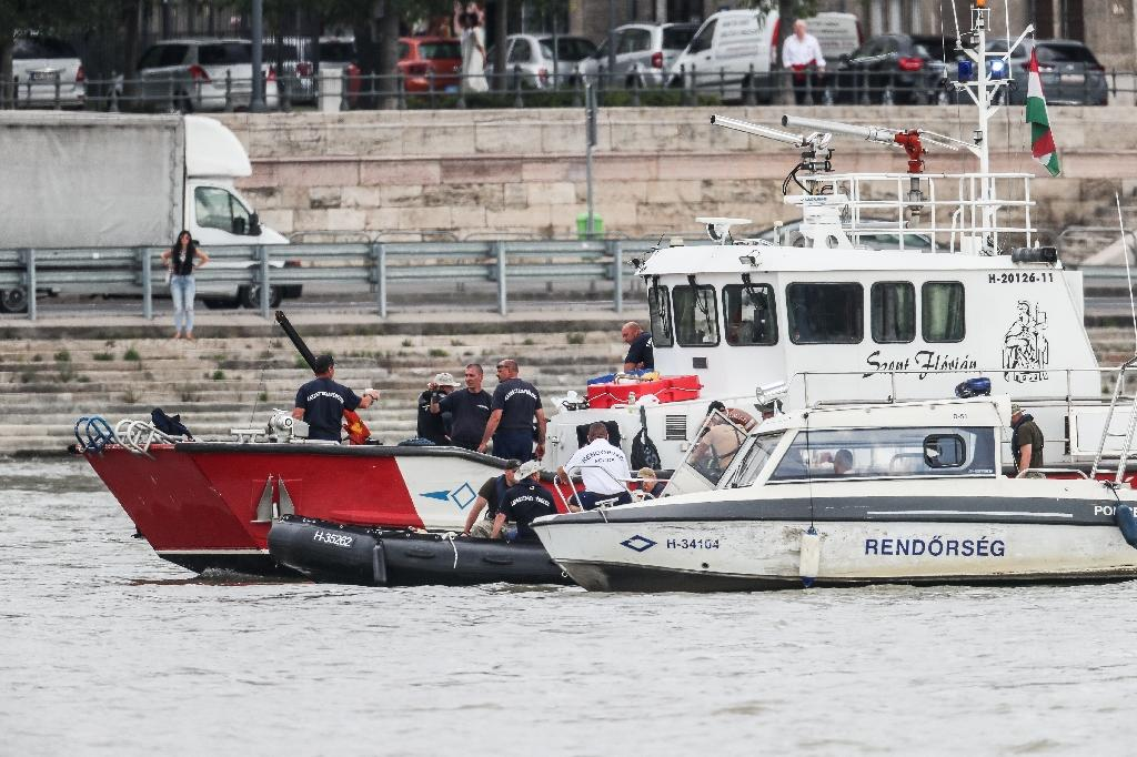 South Korean and Hungarian teams have been searching for missing boat passengers (AFP Photo/FERENC ISZA)