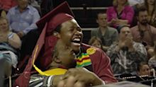 Mother and son graduate college together in surprise ceremony: 'It was unbelievably special'