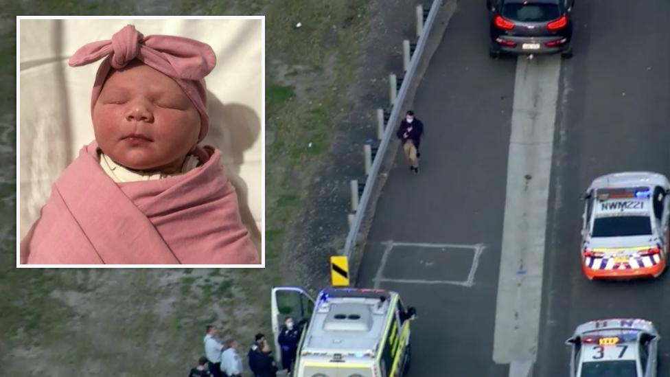 New father delivers baby on side of busy Sydney motorway