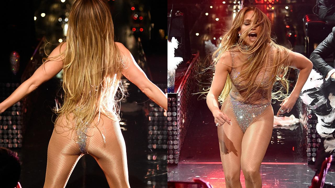 Jennifer Lopez strips to a thong for the Time 100 Gala Video