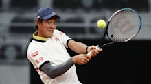 Nishikori and Dimitrov claim first round wins in Rome