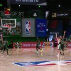 Goran Dragic with a deep 3 vs the Boston Celtics