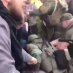 Police Scuffle with Anti-Fascist Protesters at Neo-Nazi Rally in Georgia