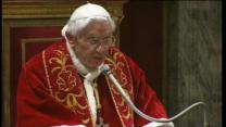 Pope Benedict XVI spends his final day as pontiff