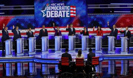 Democratic debate marred by NBC audio snafu