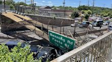 DC pedestrian bridge collapses onto Interstate 295, injuring at least 5 and snarling traffic