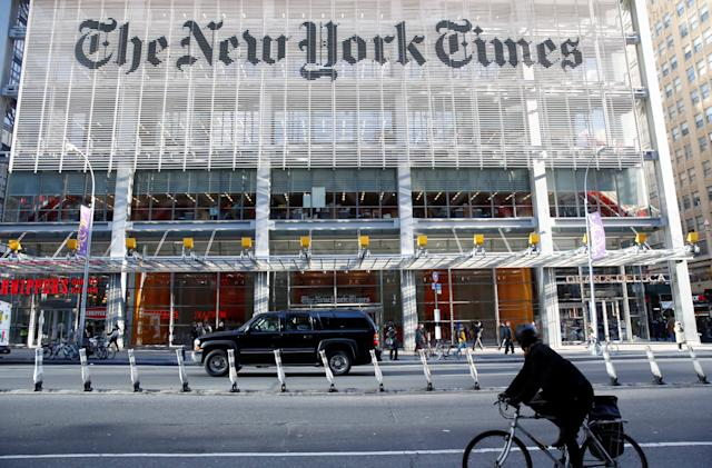 New York Times reduces free article limit to five per month