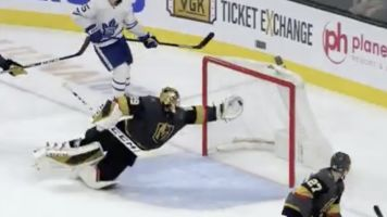 Fleury flashes the leather for absurd save vs. Leafs