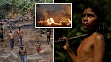 Amazon tribe's desperate fight to save home from forest fires