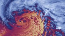 'Bomb cyclone' triggers 75ft wave off California coast