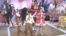 Filhos de Simone e Simaria roubam a cena em live junina