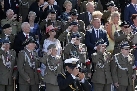 Veterans attend a ceremony to mark the anniversary of the outbreak of World War Two in Warsaw