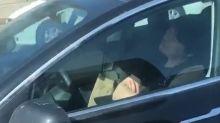 Tesla driver filmed 'asleep' at wheel in Los Angeles