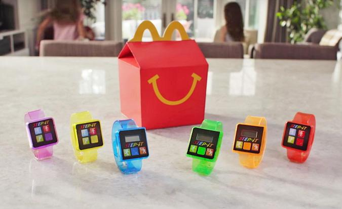 McDonald's hands out activity trackers with Happy Meals