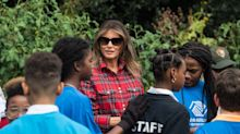 Melania Trump's high-fashion gardening outfit slammed by critics: 'Not so down-to-earth'
