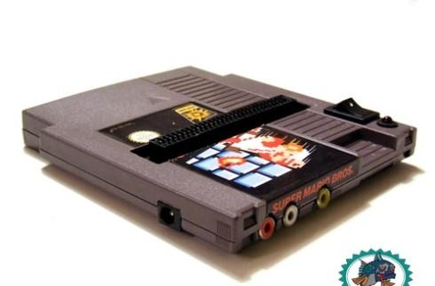 Working NES squeezed into ... an NES cartridge