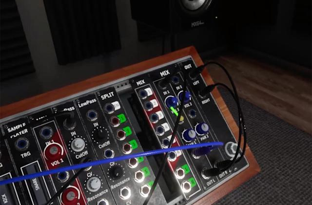 Synthspace recreates the physical presence of a modular synth in VR