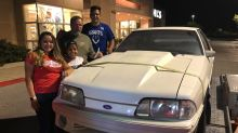 Children surprise dad with Mustang he sold 17 years ago to pay for mom's cancer treatment