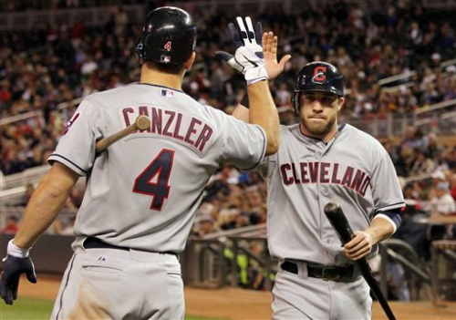 Canzler, Huff help Indians edge Twins 7-6