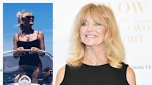 72 year old Goldie Hawn is a 'goddess' in black swimsuit