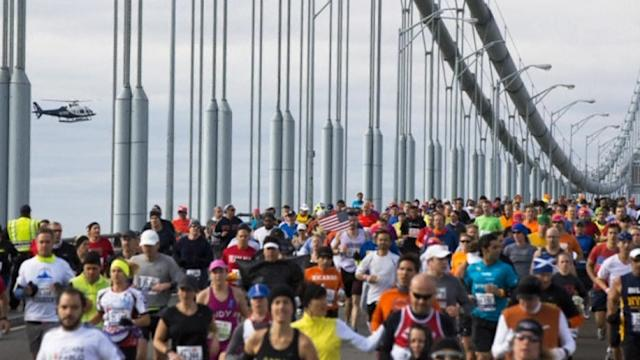 Runners take over streets at New York City Marathon