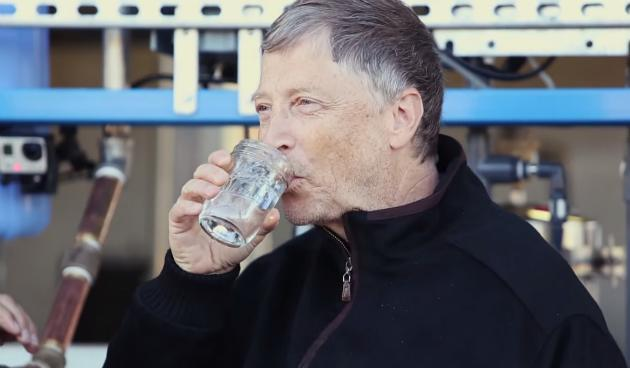 Watch Bill Gates drink water made from human waste