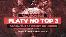 Flamengo ultrapassa Liverpool em inscritos no YouTube e entra no top-3 mundial