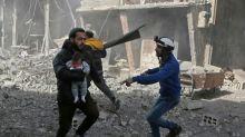 Syria regime pounds rebel enclave, sends fighters to face Turkey