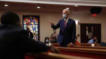 Joe Biden speaks out in sharp contrast to Trump