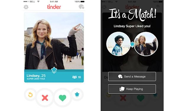 Tinder adds a third swipe option called 'Super Like'