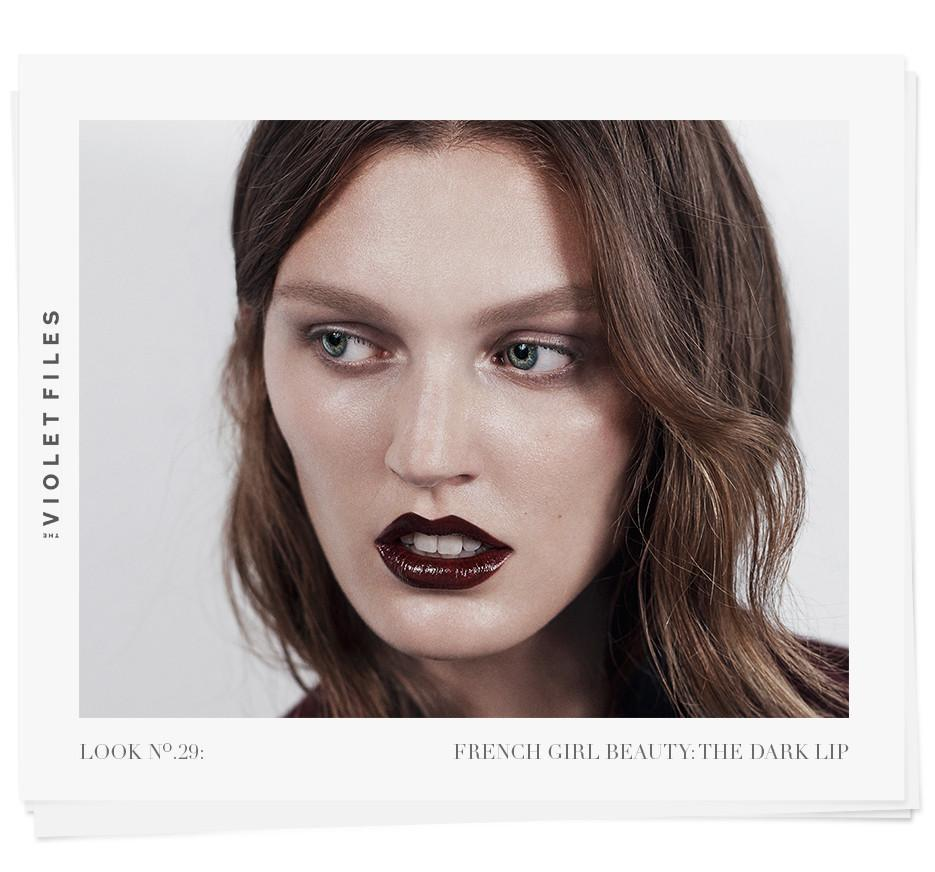 French Girl Beauty: The Dark Lip