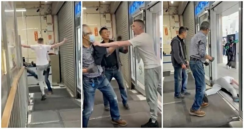 Asian Business Owners Knock Out Man Allegedly Harassing Them in Their Store in Ireland