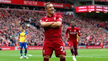 Jurgen Klopp reveals why he brought off Xherdan Shaqiri in Liverpool win and provides Virgil van Dijk injury update