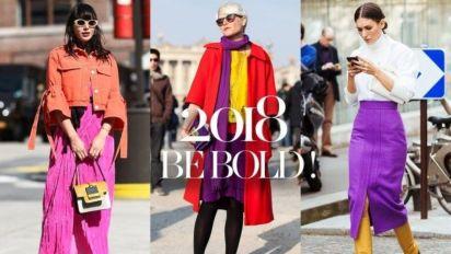 2018 年就是要放膽!鮮色穿搭即將大行其道