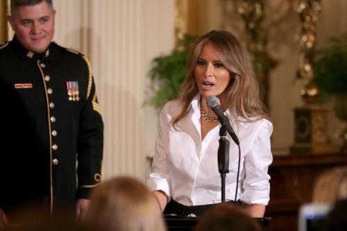 Melania Trump, speaking on Friday