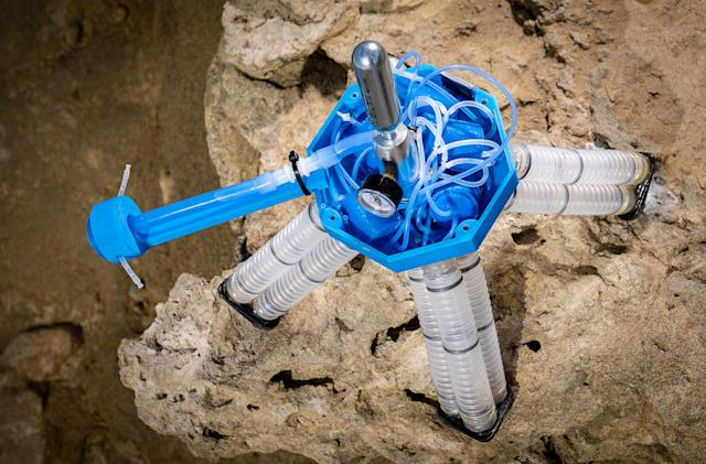UC San Diego's electronics-free soft robot only needs pressurized air to move