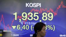 Global stocks sink on trade war jitters, economic data