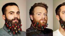 Enfeites para barba estão de volta neste Natal