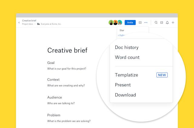 Dropbox's Paper documents app now supports custom layouts