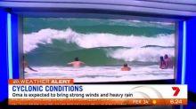 Cyclone Oma threatens coast