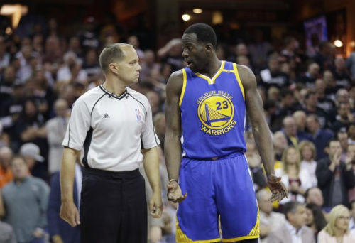 Draymond Green would like an explanation. (AP)