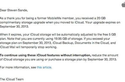 Complimentary iCloud storage upgrades are expiring soon