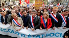 France's far left takes to the streets against Macron