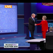 Watch Clinton and Trump Shake Hands at the Debate