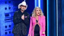 Pregnant Carrie Underwood reveals baby gender during hilarious CMA Awards monologue