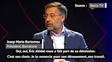 "Barcelone - Bartomeu : ""C'est le choix d'Abidal de démissionner"""