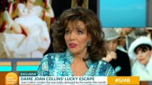 Dame Joan Collins tells of the horrifying moment she realised she was caught up in a fire at home